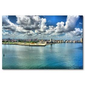 Αφίσα (Κούβα, λιμάνι, κτίρια, αρχιτεκτονική)